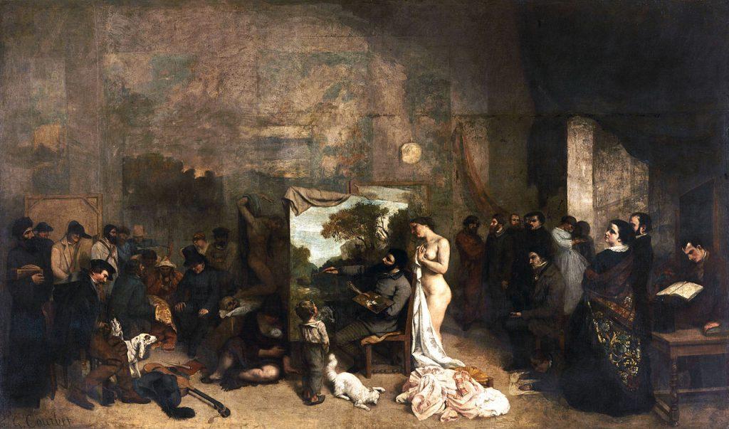 Courbet, l'atelier du peintre (1855).