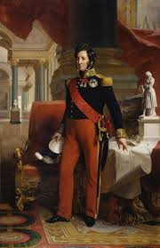 Monarquía de Julio. El nuevo rey prestando juramento la Carta revisada