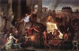 Charles Le Brun - Entrada de Alejandro en Babilonia (1664)