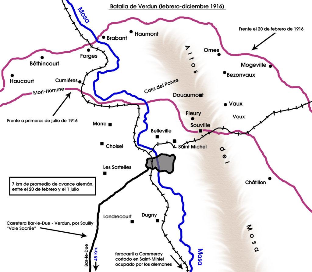 Batalla de Verdún - (febrero-diciembre 1916)