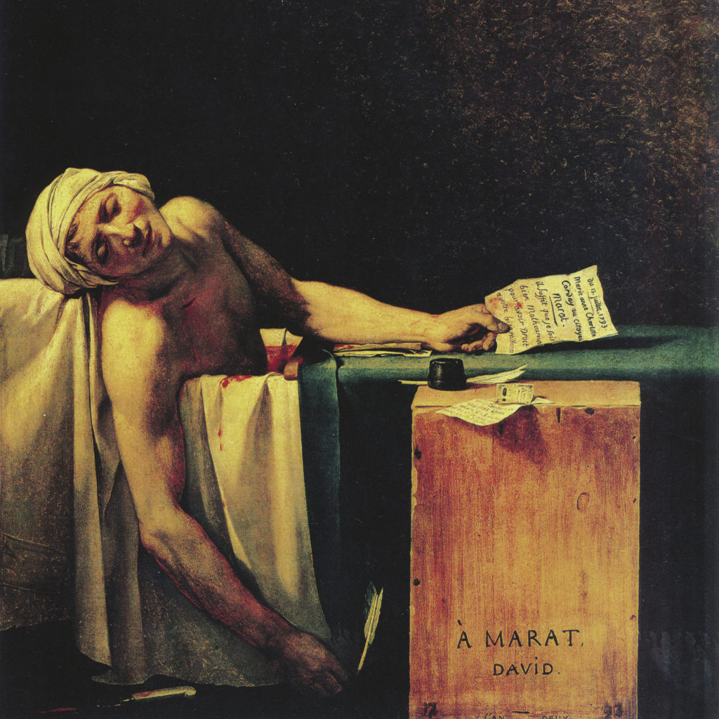David, Jacques Louis - À Marat, David. Asesinato de Marat
