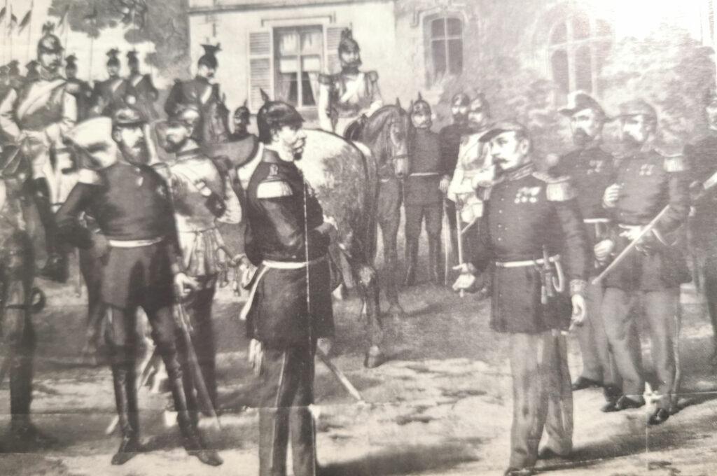 Guillermo II entrevistándose con Napoleón III derrotado