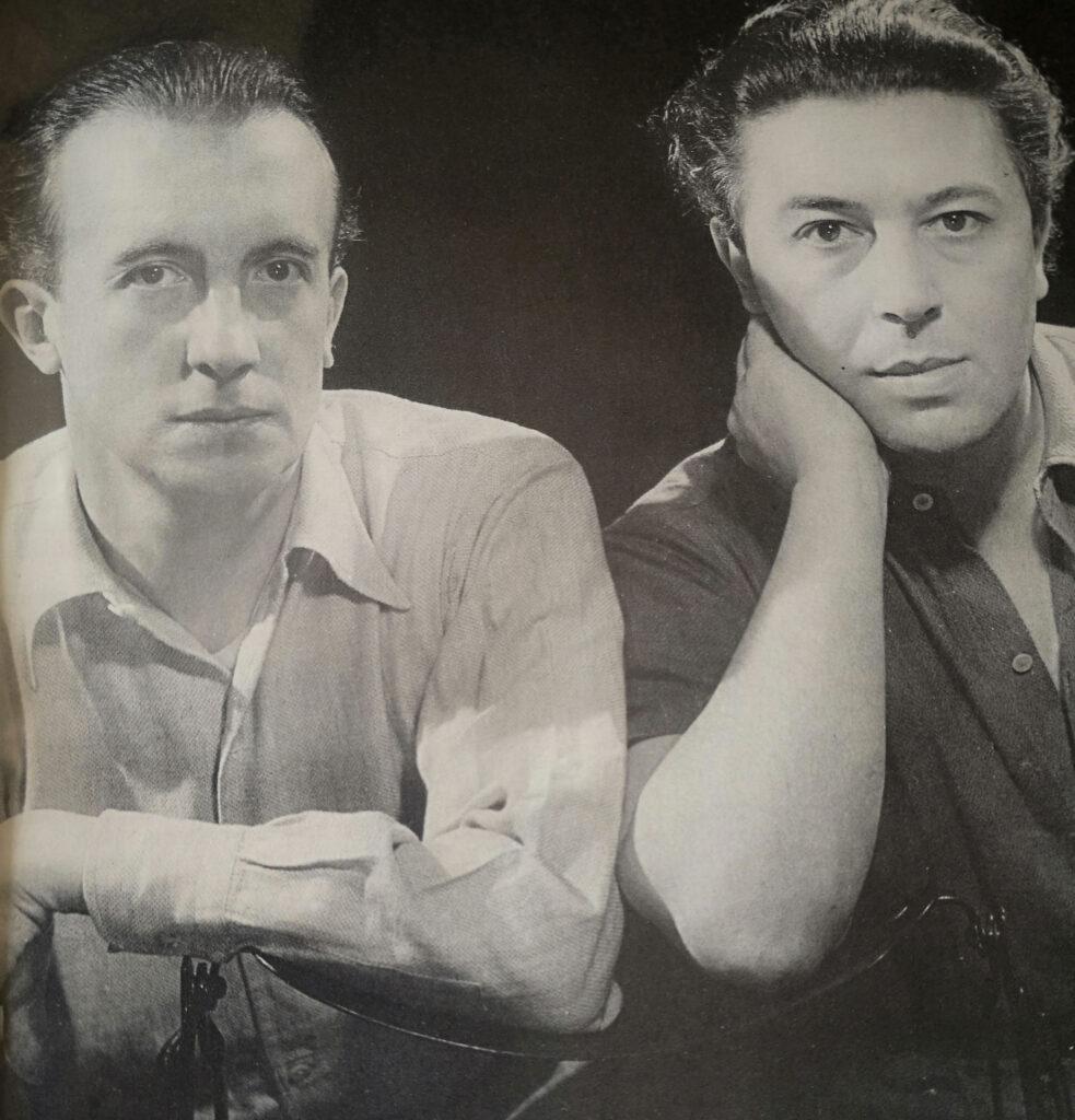 Paul Éluard, (izq.) y André Breton (dr.)