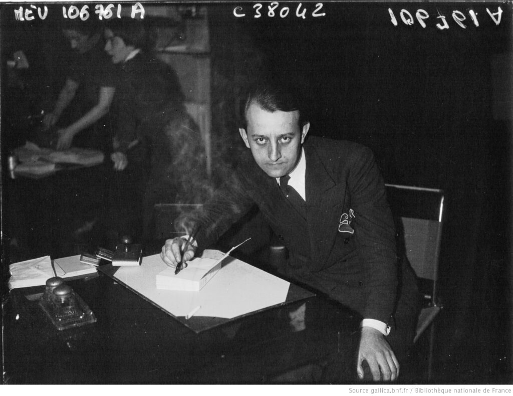 Malraux, premio Goncourt. Agence Meurisse. BNF