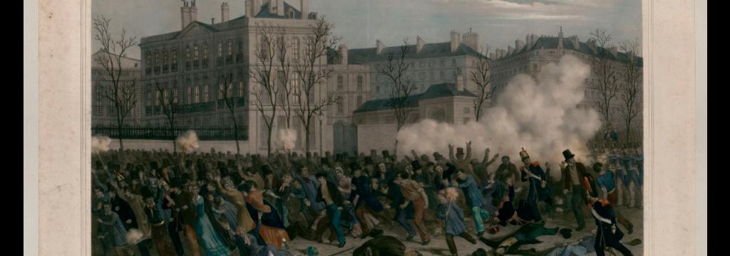 Revolución 1848 - Sangrienta refriega ante el Ministerio de A. E., el 23 de febrero de 1848.