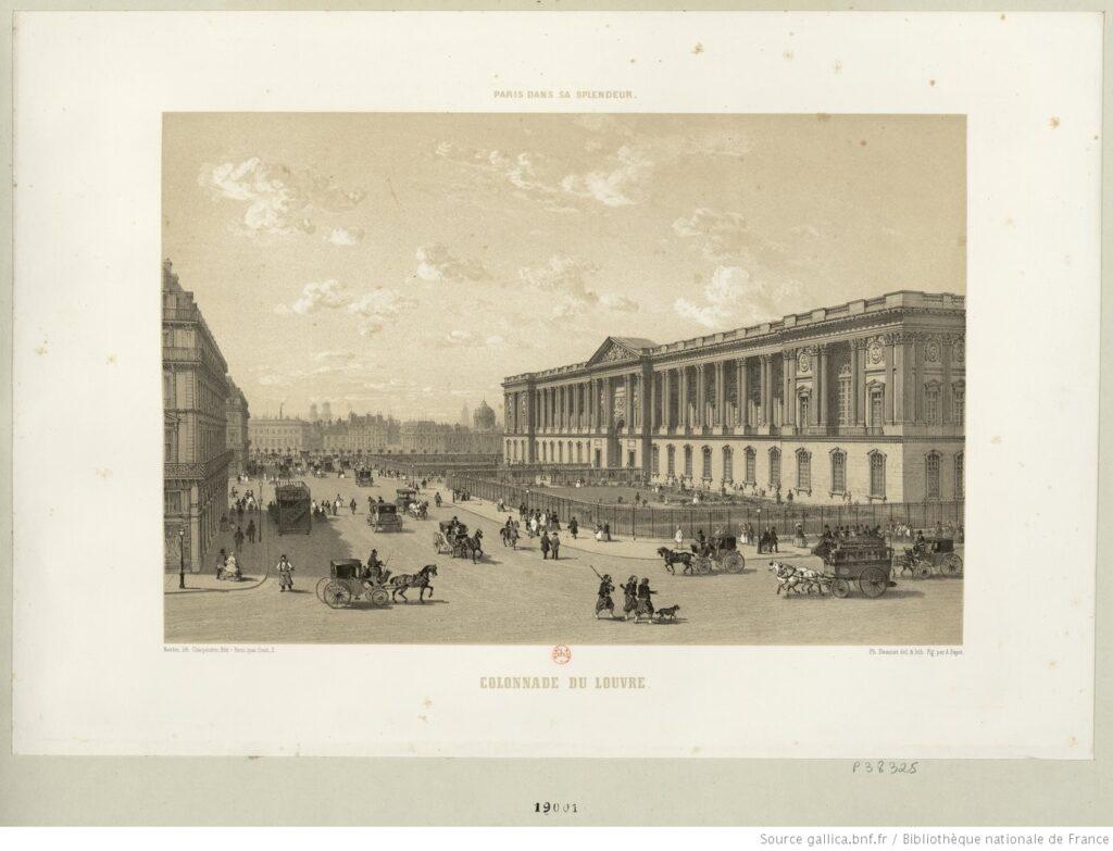 Colonnade du Louvre. Estampa. BNF