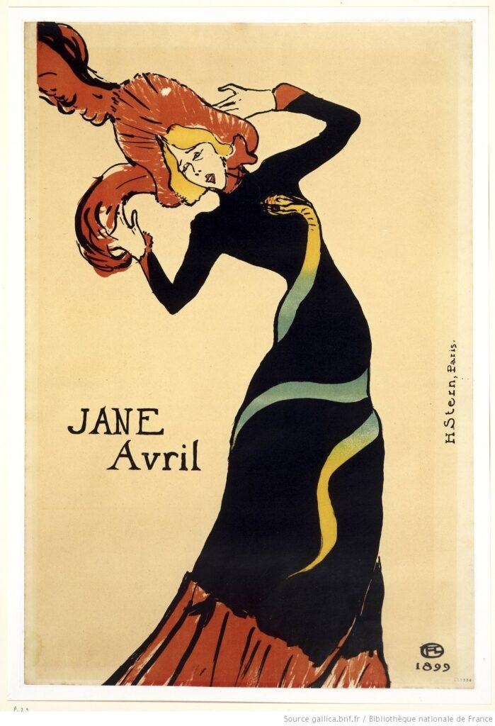Toulouse Lautrec - Jane Avril, robe au serpent (1899)