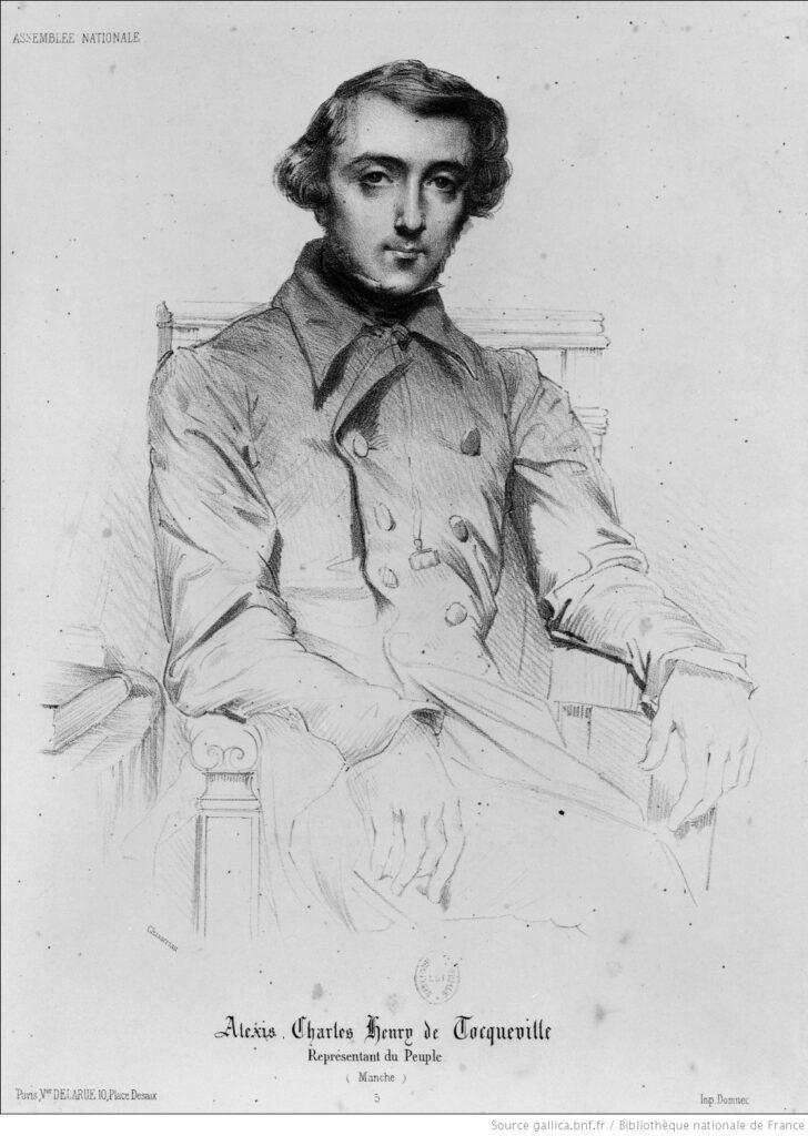 Tocqueville, representante del pueblo. Estampa de Th. Chasseriau. BNF
