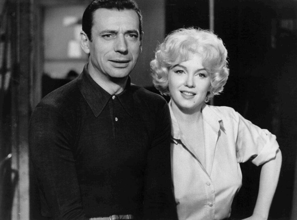 Yves Montand y Marilyn Monroe