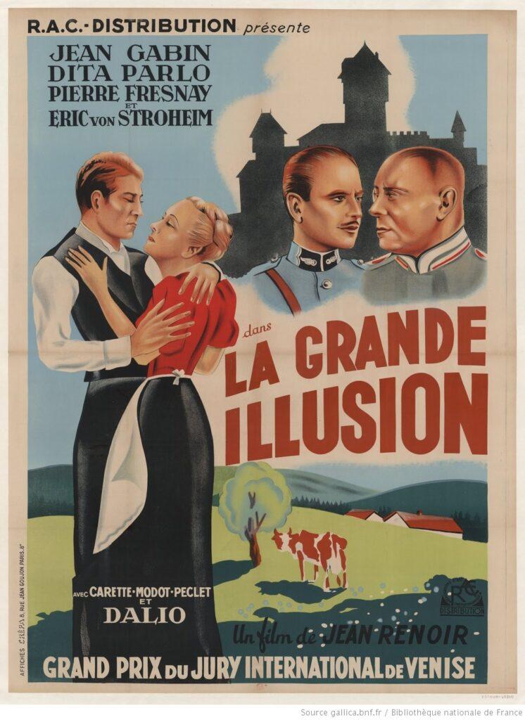 """Distribución de """"La Grande illusion"""", de Jean Renoir (1938) BNF"""