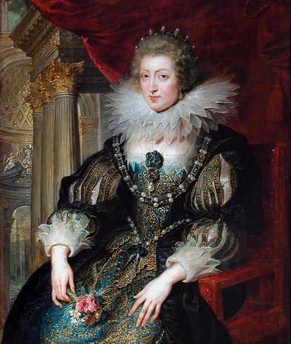 Ana de Austria. Retrato, entre 20 y 25 años, copia de un original perdido, a partir de Rubens