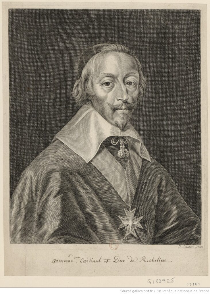 Armand Jean Duplessis, cardenal de Richelieu (grabado de J. Couvay (BNF)