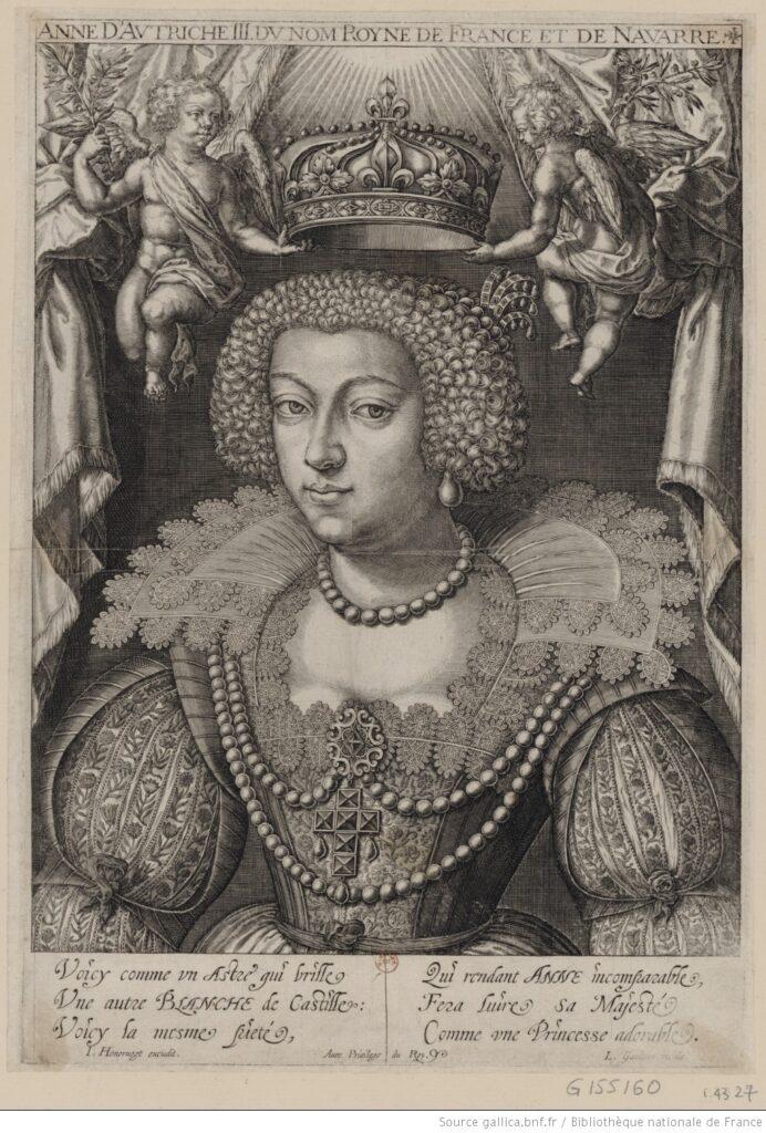 Grabado de Ana de Austria