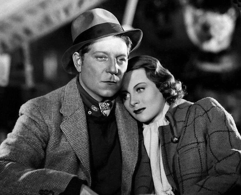 """Michèle Morgan y Jean Gabin en """"Quai des brumes"""" (1938)."""