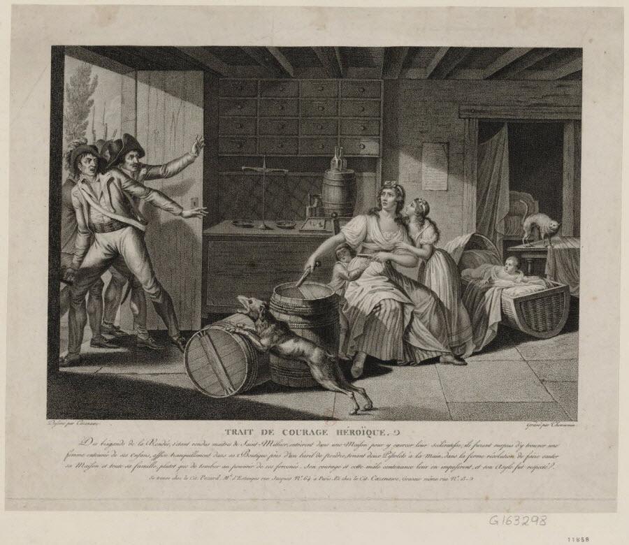 Propaganda antivandeana (Dibujo de Cazenave y grabado de Thouvenin, BNF)