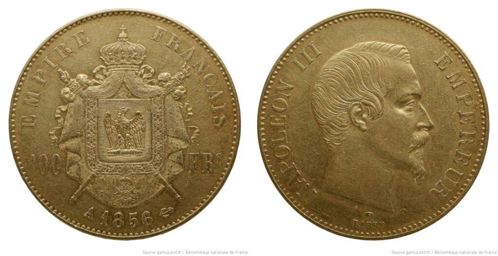 Monedas del Segundo Imperio, de 100 francos-oro (BNF)