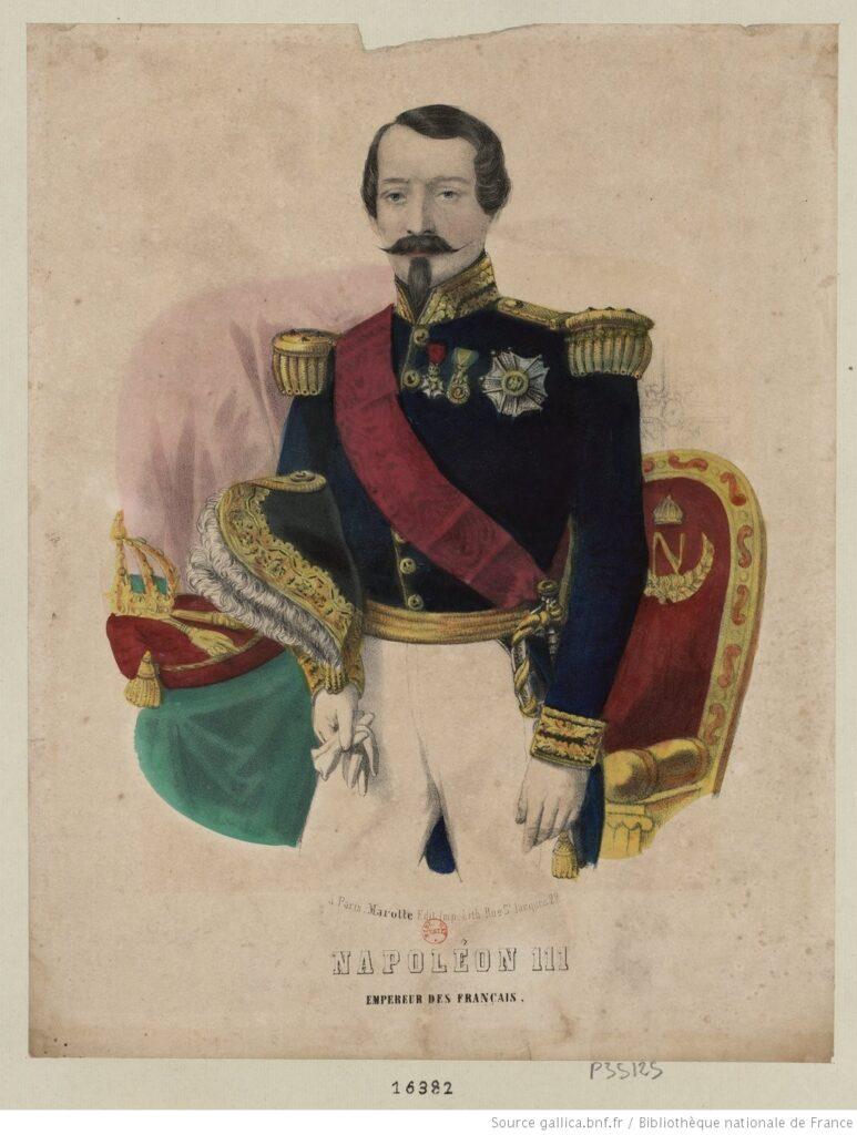Napoleón III, Emperador de los franceses. Estampa, 1855 (BNF)