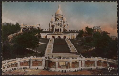 Sacré-Coeur - postal de 1935 - Basílica del Sagrado Corazón de París