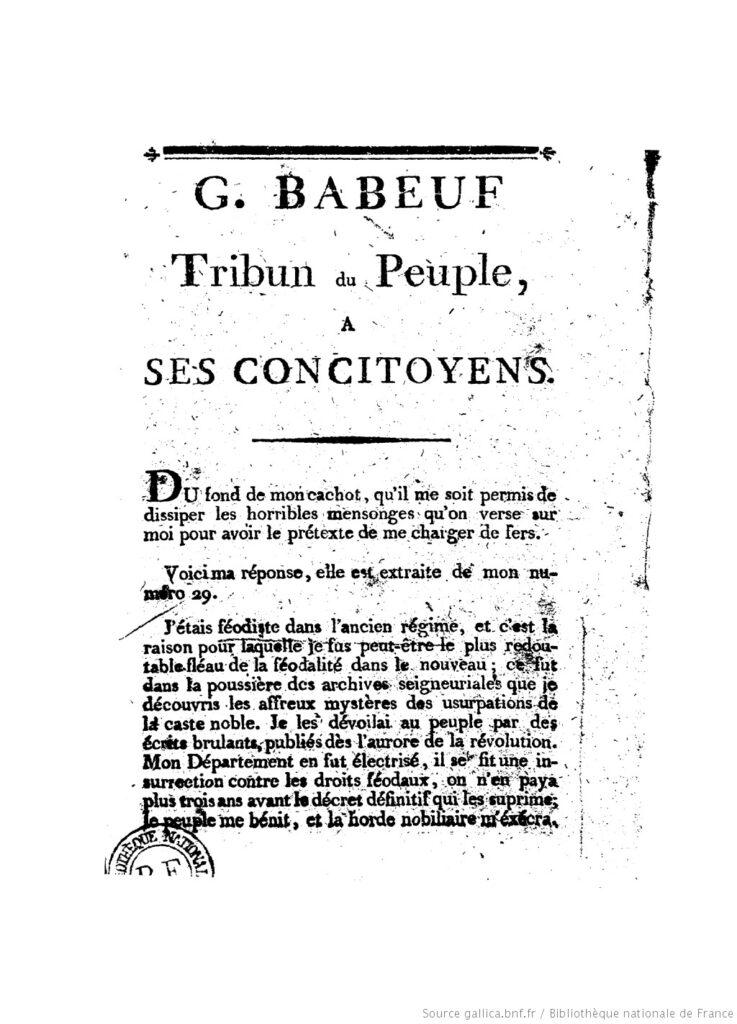 Babeuf (de Le Tribun du peuple) BNF