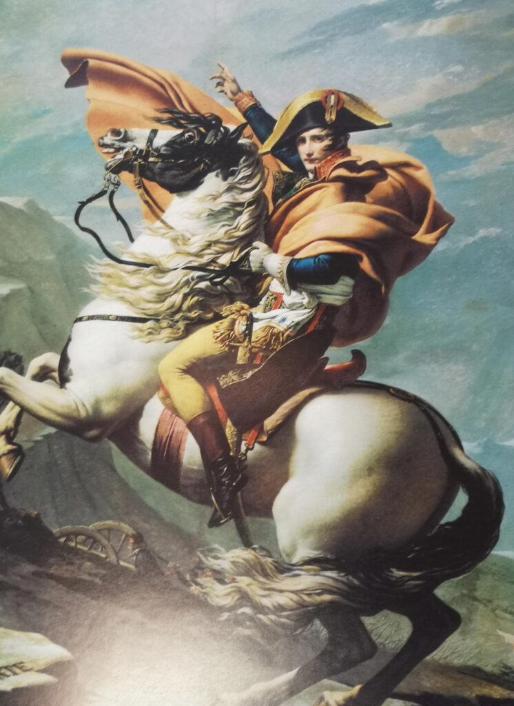 David, Jacques Louis - Bonaparte atravesado en Gran San Bernardo