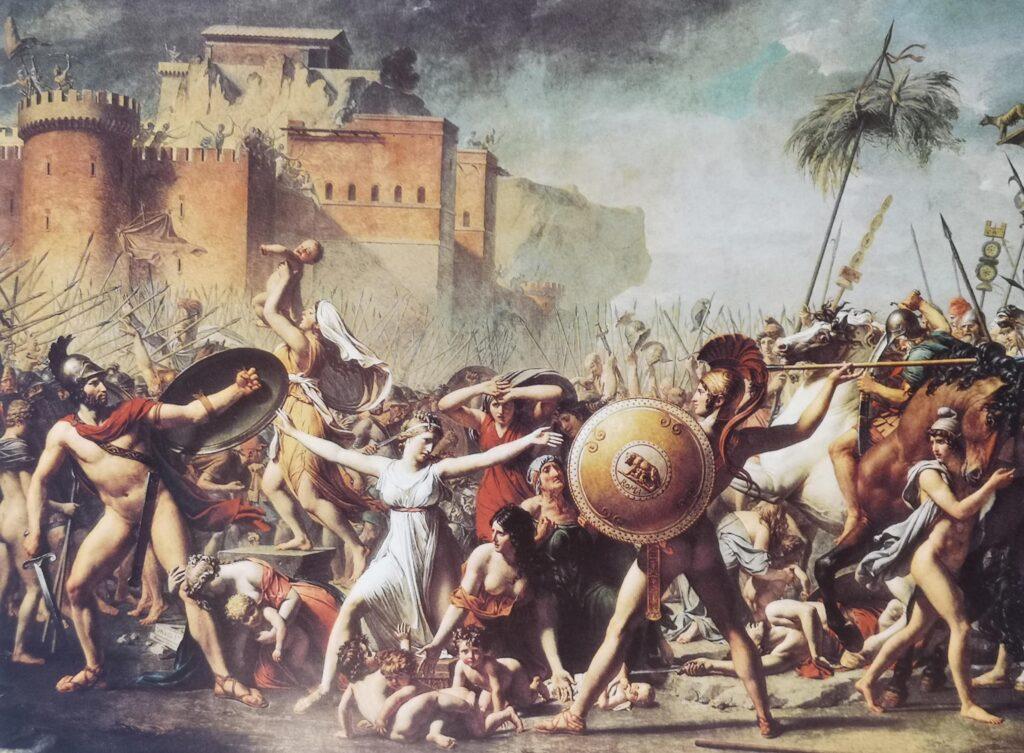 David, Jacques Louis - Intervención de las Sabinas 1796/99, Louvre