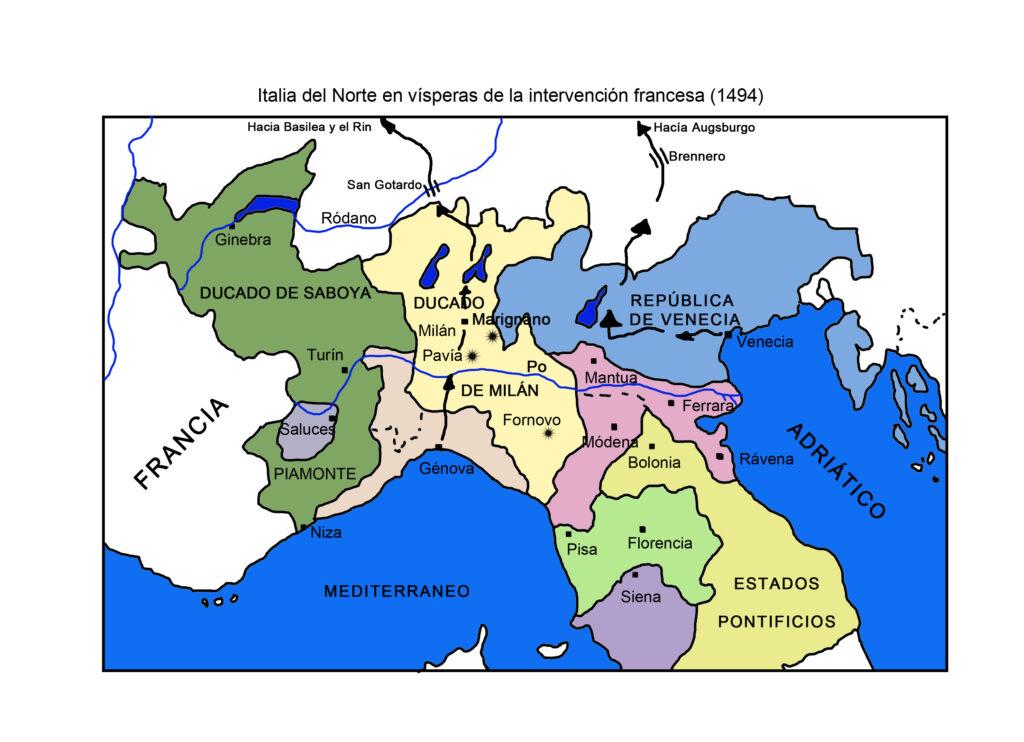 Italia del Norte en vísperas de la intervención francesa (1494)