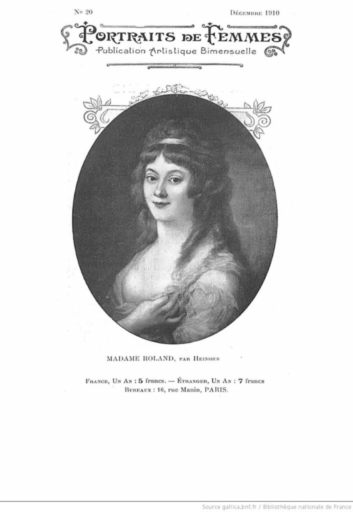 Madame Roland. BNF