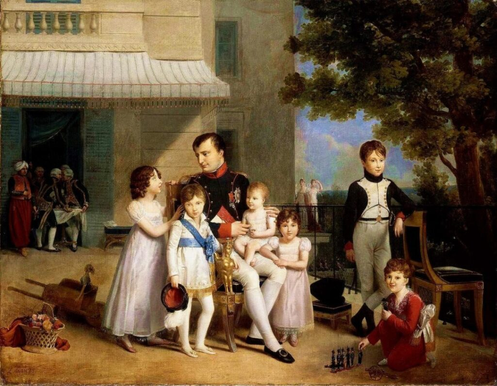 Napoleón con sus sobinos en Saint-Cloud