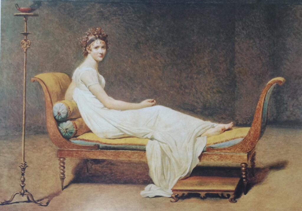 David, Jacques Louis - Retrato inacabado de Madame Récamier