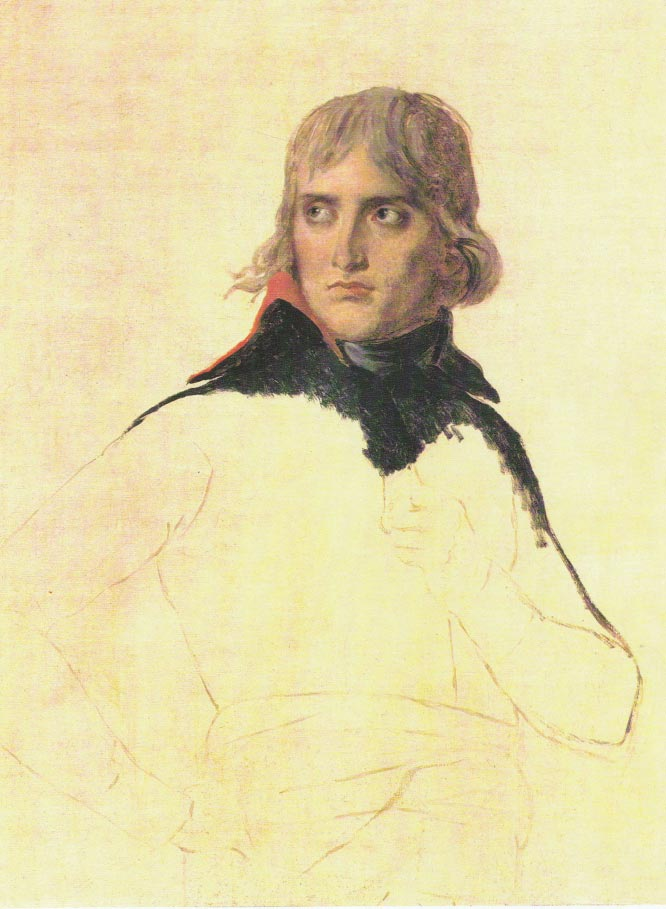 David, Jacques Louis - Retrato inacabado del general Bonaparte, hacia 1798, Louvre