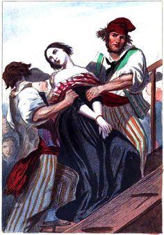 Mujer arrastrada hasta el patíbulo