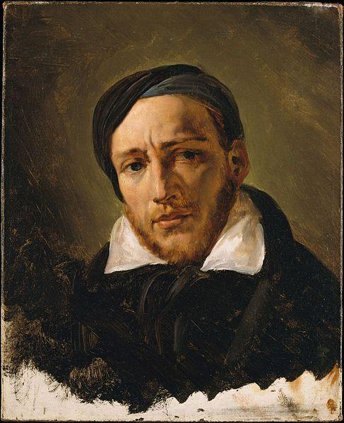 Retrato de Th. Géricault por su amigo H. Vernet (1823).