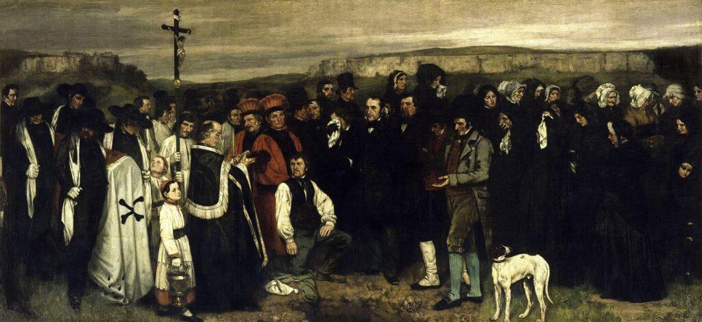 Courbet. Entierro en Ornans (1849), detalle
