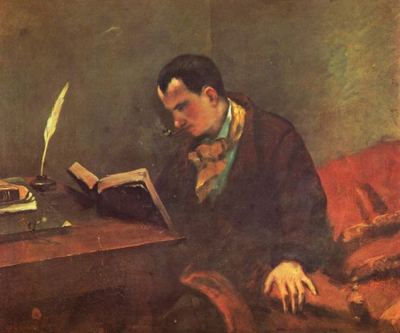 Courbet. Retrato de Baudelaire (1848)