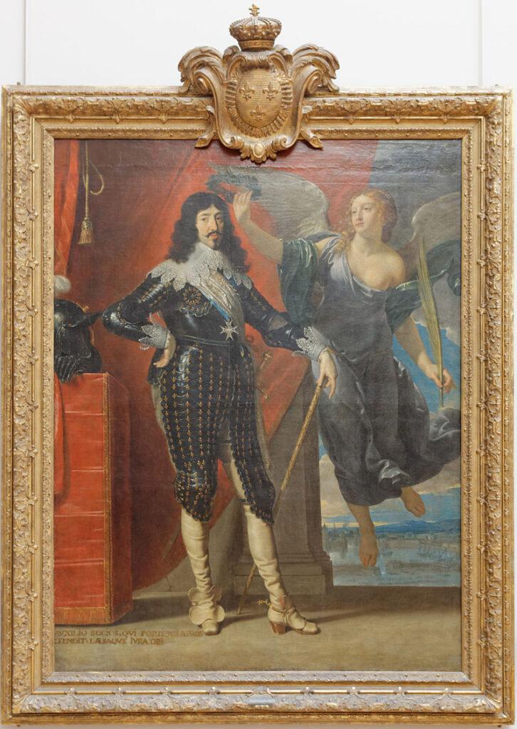 Philippe de Champaigne. Luis XIII coronado por la victoria