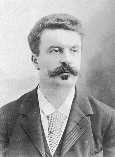 Maupassant, retrato por Nadar, 1888 (BNF)
