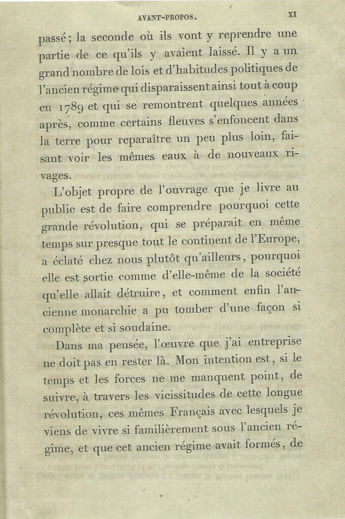 Tocqueville. Del prefacio