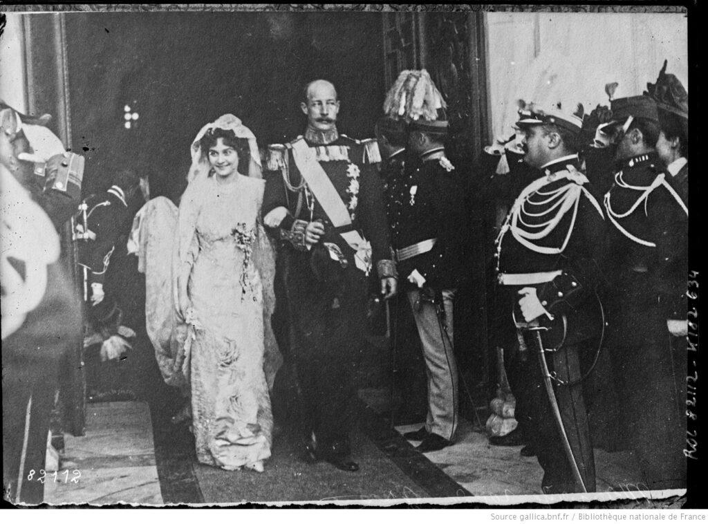 María Bonaparte. Enlace matrimonial en Atenas en 1907. BNF