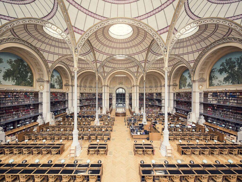 Biblioteca Nacional de Francia, site Richelieu, sala de lectura Labrouste