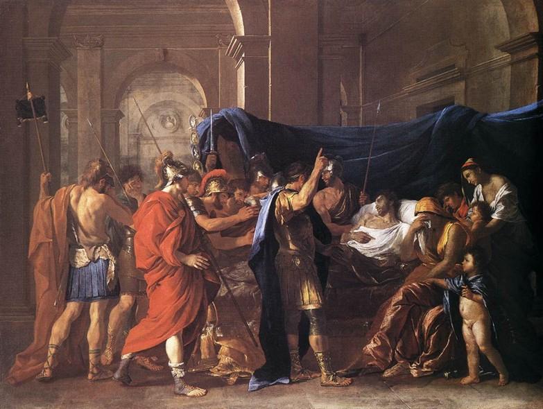 Poussin. Muerte de Germánico (1627), Minneapolis. Institute of Arts.