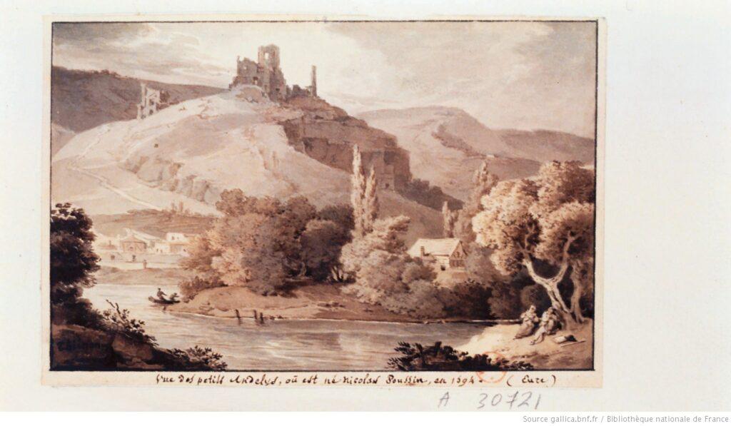 Vista de Petits Andelys, donde nació Nicolas Poussin en 1594 (Gallica, BnF)