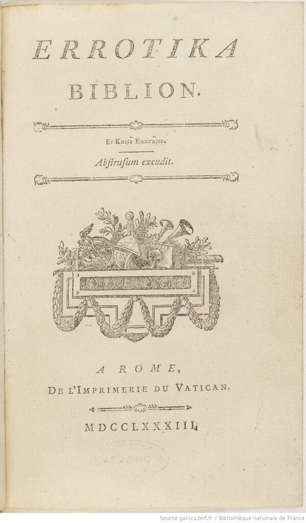Erotika Biblion, de Mirabeau (BnF)