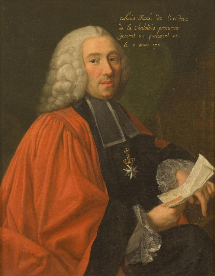 Luis XV - La Chalotais, parlamentario bretón, gran opositor al duque d'Aiguillon