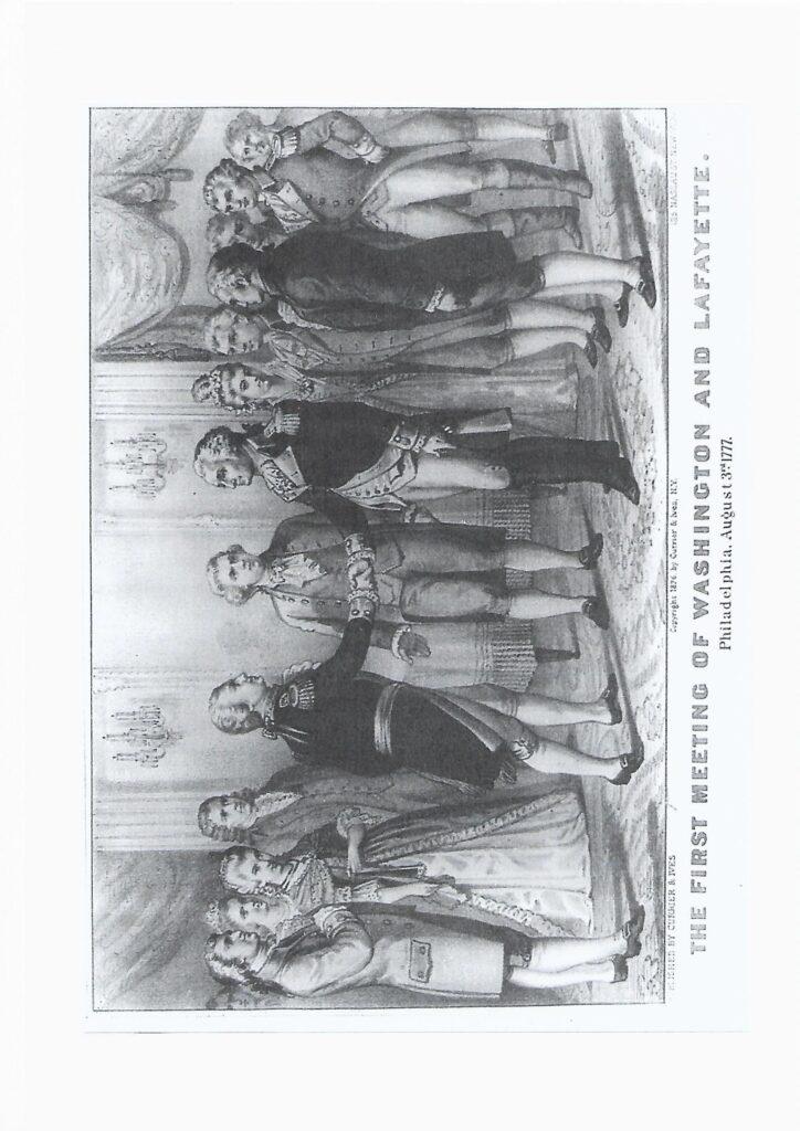 La Fayette y George Washington