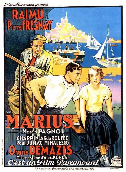 Marcel Pagnol - Marius, cartel de cine