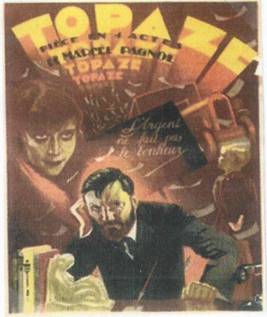 Marcel Pagnol - Topaze. Cartel de teatro