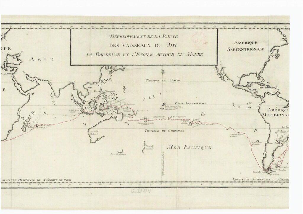 Itinerario y desarrollo del periplo de Bougainville - Original