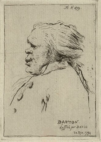 Dantón, caricatura de David (BnF).