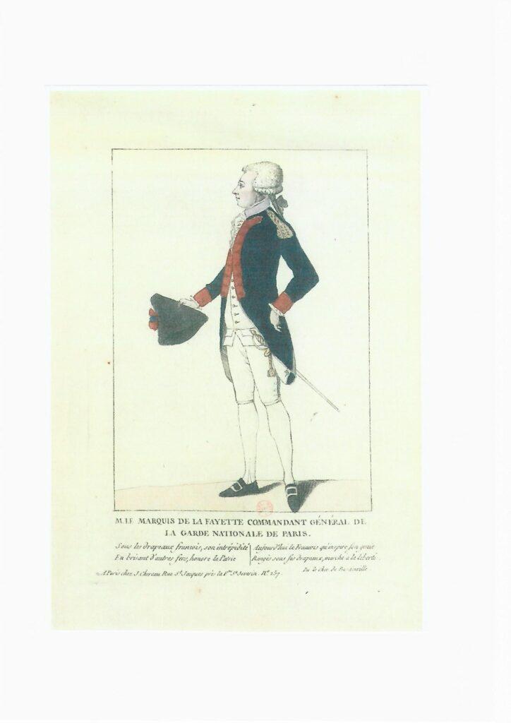 Marqués de La Fayette, comandante de la Guardia nacional.