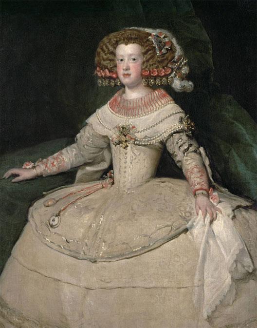 Tratado de los Pirineos. María Teresa de Austria con 15 años aprox. (Velázquez, Viena).